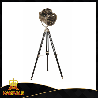 High quality wood & stainless steel floor standing lamp (F701)