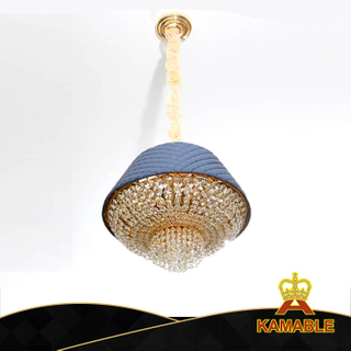 Fancy Special Design Crystal Leather Hotel Interior Pendant Lamp (KA529-P)