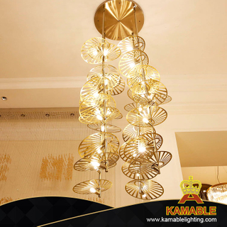 Modern Traditional Design Indoor Antique Brass Chandelier(KA519-C)