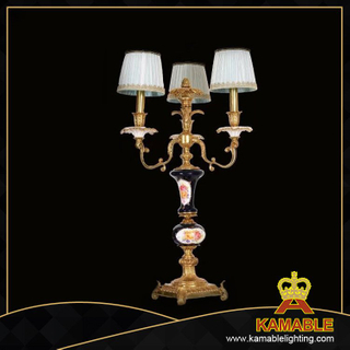 European style brass material antique table lamp for living room (TA-1005-3+1)