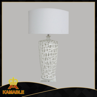 Hotel Project Ceramic Crystal White Table Lamp (KADXT-775872)