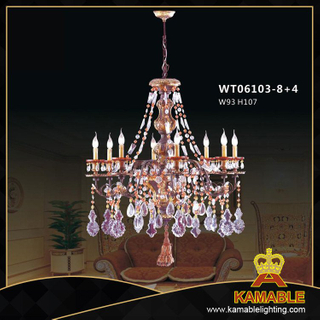 Hotel Brass with crystal Classical pendant chandelier(WD06103-8+4)