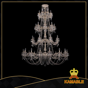 Lobby luxury crystal Ceiling lamp (1702-16+8+8+8-335+265 CGW)
