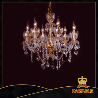 Extravagant style hotel lobby glass chandelier(3908-6L )