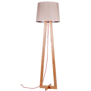 modern wood floor lamp for Villa standard lamp (LBMD-BL)