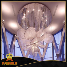 Gentle design luxury flower shape corridor project crystal chandelier (KA1027)