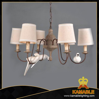 Graceful iron decorative pigeon antique pendant light (GD1025S-6)