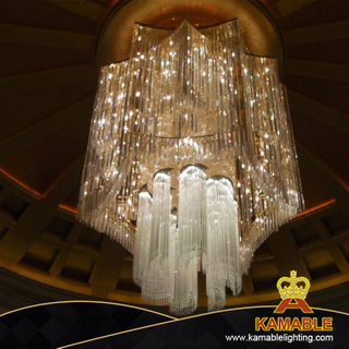 Hotel Decoration Big Chandelier Crystal Hanging ceiling Lamp (KAJ18009)