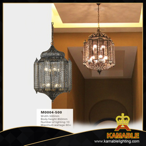 Elegant design Arabic style decorative brass pendant lamp. (M0004-500)