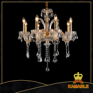 Newest style hotel lobby glass chandelier(11001-8L)