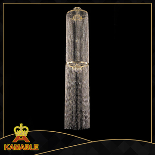 Modern hotel staircase decorative crystal pendant lamp (KA2140)