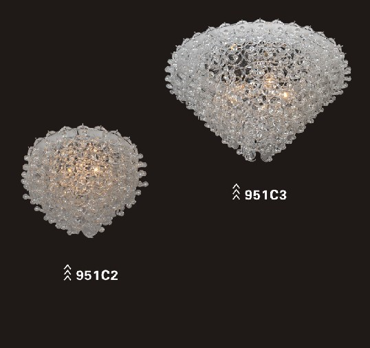 Carbon steel glass modern ceiling light decoration (951C2)