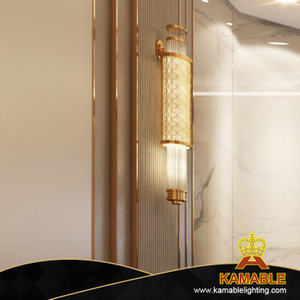 Lobby custom-made-indoor glass rod wall light (KAC-08 )