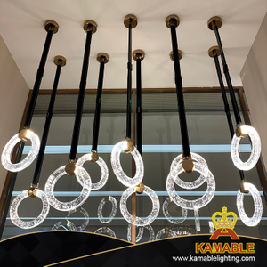 Interior Design Modern Circle Leather LED Pendant Lighting (KAPD8032)