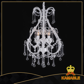 Splendid style indoor decorative painted chandelier(5037-3L clear )