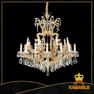 Hotel project lobby crystal chandelier(MD6054B-16+8+1)
