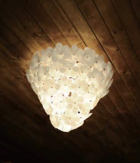 Nice glass carbon steel ceiling lamp decoration (1068C )