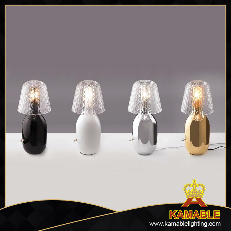 Clear glass decorative indoor modern table lamps (MT10340-1-320)