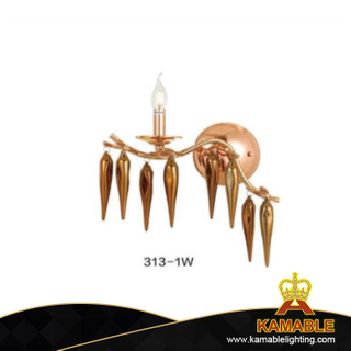 Guest Room Aluminum Champagne Wall Sconce Light (KA313-1W)