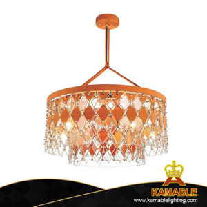 Modern Leather Crystal Pendant Light (KAG5752-D850)