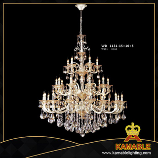 Hotel project Classical style pendant chandelier(WD1131-15+10+5)