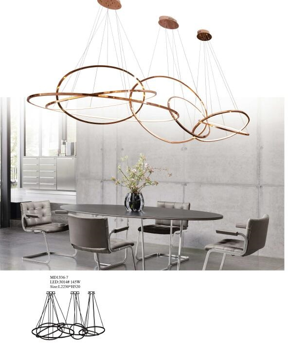 Lobby Decorative Round LED Pendant Lighting (MD1323B-7)