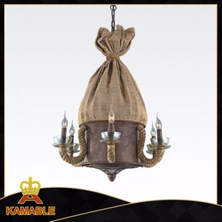 Retro steel hemp rope decorative hotel pendant lamp (KW0029P-6)