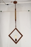 Decorative antique brass steel stand hemp rope pendant lamp(KW0060P-1B)