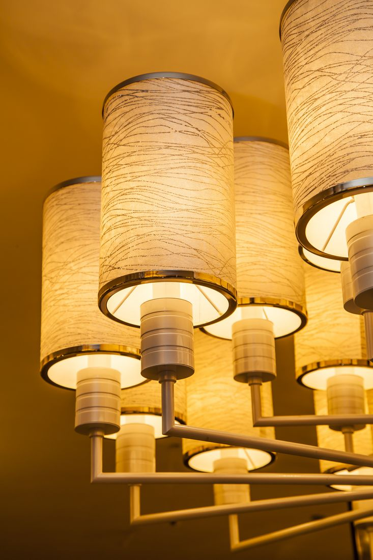 Modern Fabric Large hotel project chandelier (KA233)