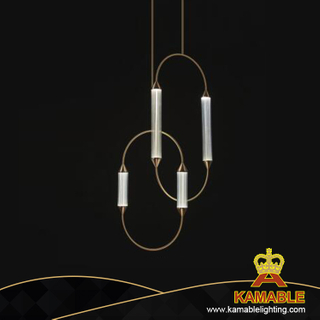 Hotel decoration iron glass ceiling light(KA9986P-AS)