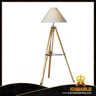 Project light industrial wood tripod floor light (F705(natural))