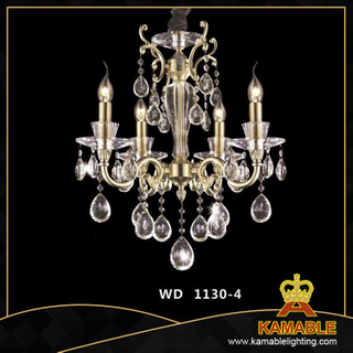 Classical style home brass with crystal pendant chandelier(WD1130-4)