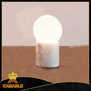 Modern marble glass bedside table light (KA-T17-088)