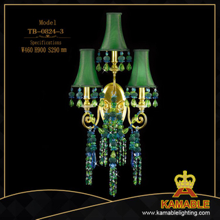 Green color brass wall light decoration(TB-0824-3)