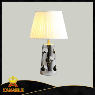 Modern Steel Ceramic Fabric Bedside Table Lamp (KADXT-011747)