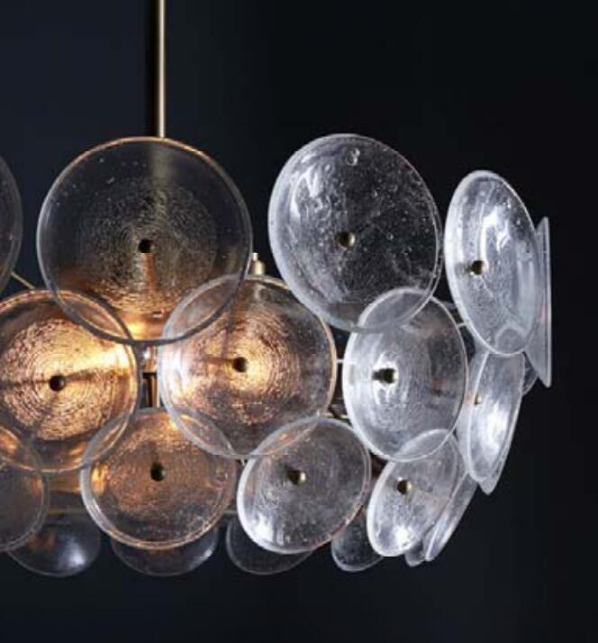 Clear Glass Pendant Lamp for Home Decorative (KPL1813)