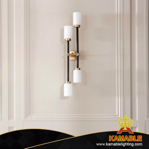 Villa Decorative Brass Plating Glass Wall Lamp (LTG-13)