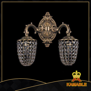 Hotel Classic aristocratic crystal wall lamp (1705-2FP)